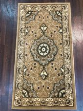 Modern/traditional Aprox 4x2 60cm x110cm New Rugs Woven Hand Carved Nice beige.